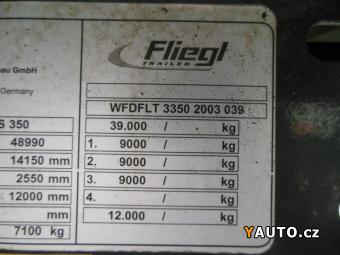 Prodám Fliegl posuvná podlaha, 7.500 KG