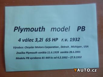Prodám Plymouth PB odp. DPH