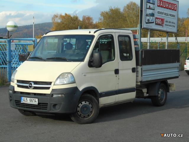 Prodám Opel Movano 2.5 DTi 73kW Double cab, valník