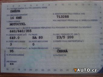 Prodám Dněpr MB 650M 16KMZ