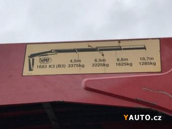 Prodám DAF 20.5t valník 6.3m+HMF 1683