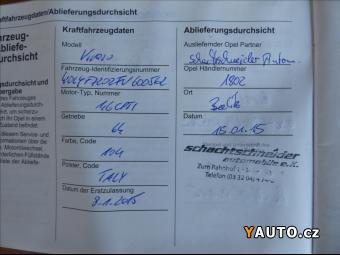 Prodám Opel Vivaro 1,6 CDTi, L1H1, Klima, 1. maj., ser