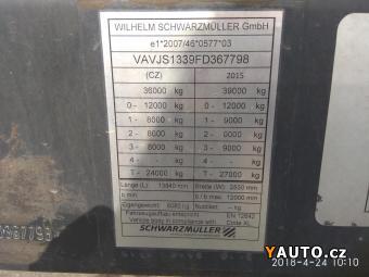 Prodám Schwarzmüller SPA3/E standard valník