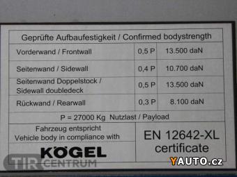 Prodám Kögel SN 24, LOWDECK, ZVEDACÍ NÁPRAV
