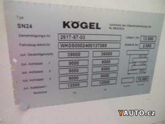 Prodám Kögel SN24 LowDeck-Mega, zvedačka