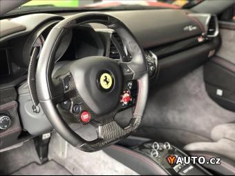 Prodám Ferrari 458 4,5 Italia, Rosso Fuoco, Karbon