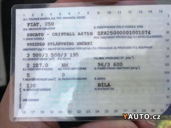 Prodám Fiat Ducato 2,3 CRISTALL obytný automobil
