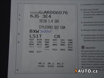 Prodám Seat Ibiza 1,4 i 16v Style